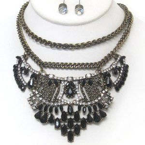 Jewelry - Crystal Necklace Earrings Set